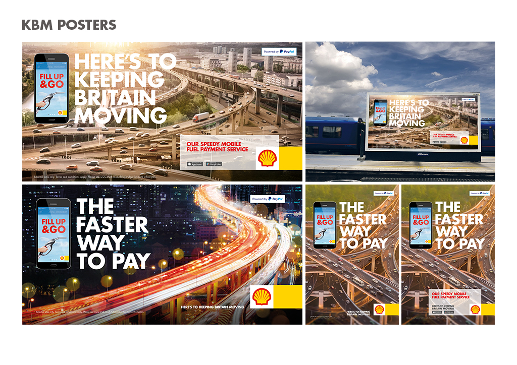 paul best_nik stewart_shell_KBM_keep Britain moving_iris_rail_roadside_ posters_the faster way to pay